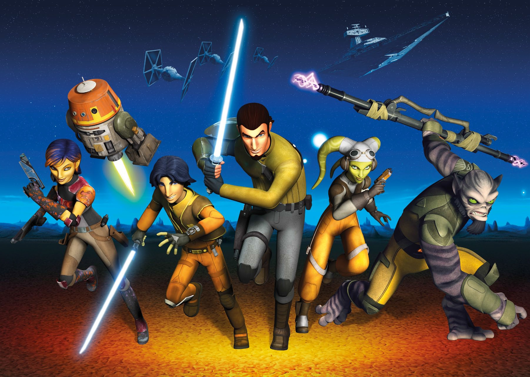 Poster XXL Star Wars Rebels Run - Panoramique - KOMAR