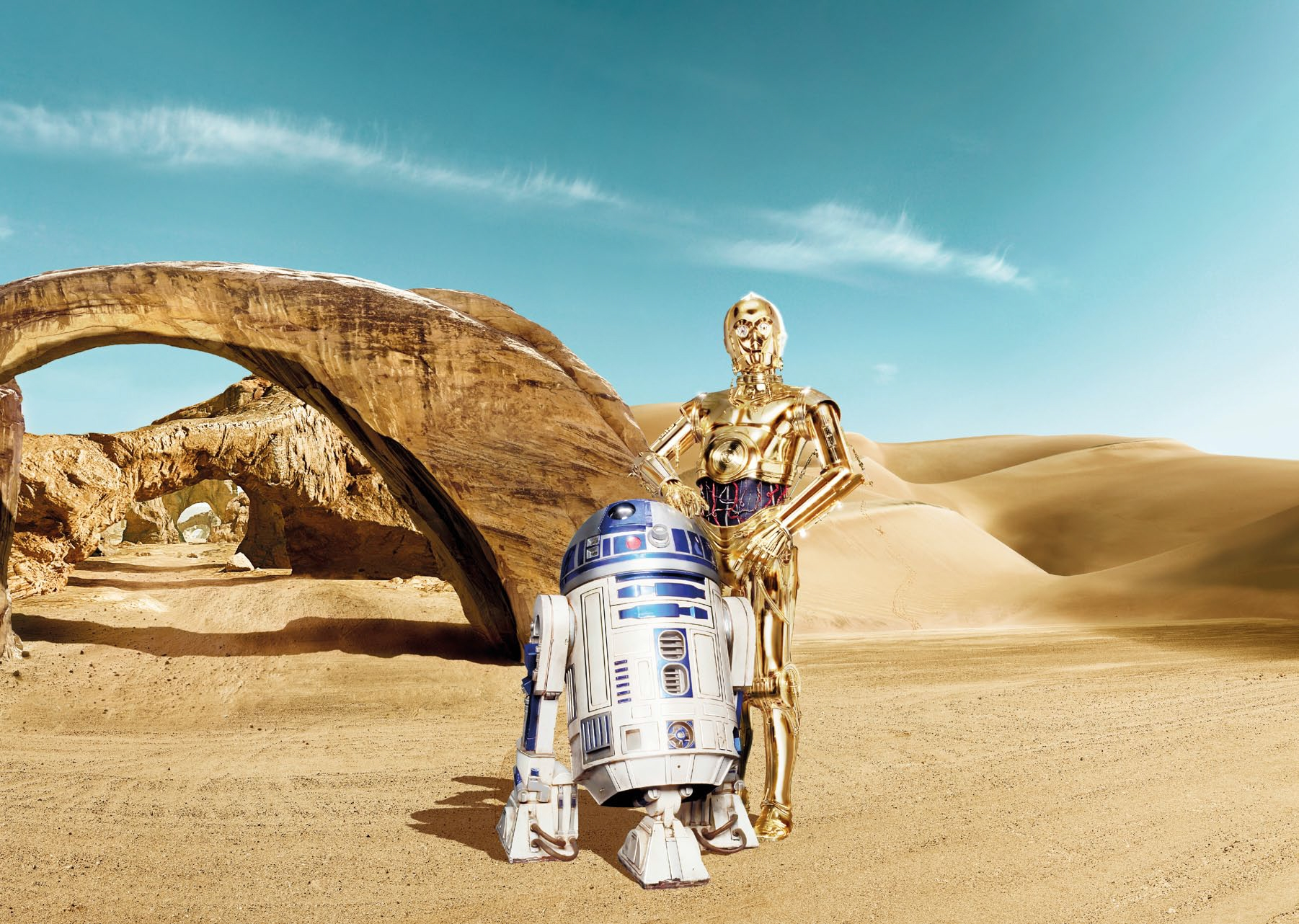Poster XXL Star Wars Lost Droids - Panoramique - KOMAR