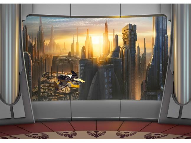 Poster XXL Star Wars planète Coruscant - Panoramique - KOMAR