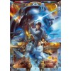 Poster XXL Star Wars Luke Skywalker collage - Panoramique - KOMAR