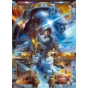 Poster XXL Star Wars Luke Skywalker collage - Panoramique - KOMAR