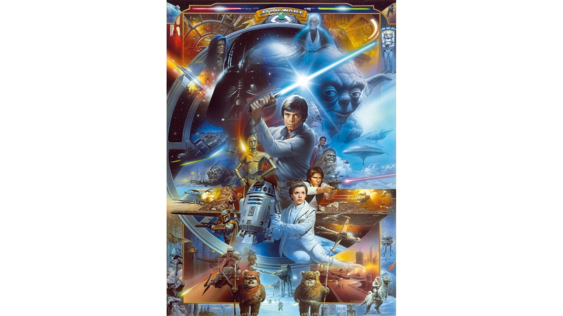 poster xxl star wars luke skywalker collage panoramique komar so nuit. Black Bedroom Furniture Sets. Home Design Ideas