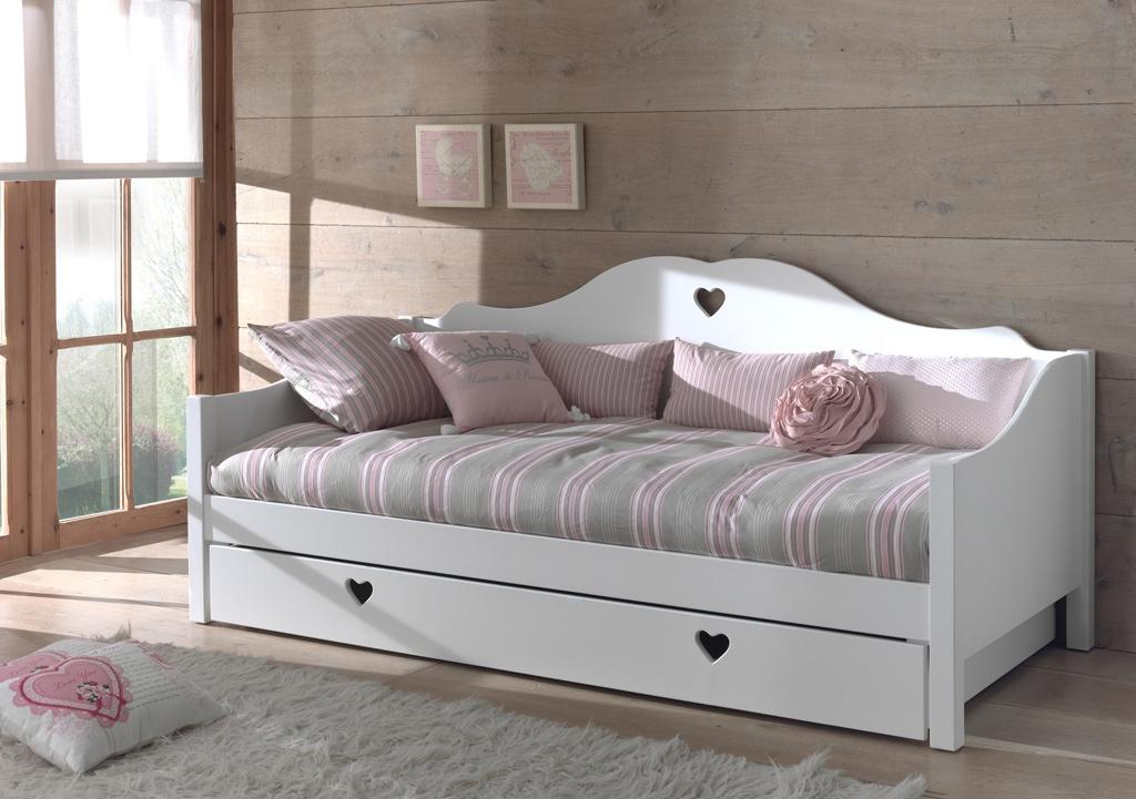 Lit banquette chambre fillette EMILIE avec couchage 90x200 cm - SONUIT