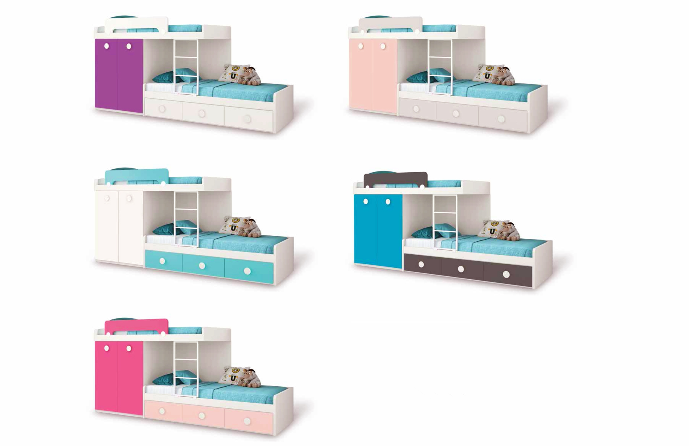 Lits superpos s avec lit gigogne fun et moderne glicerio so nuit - Lit gigogne avec bureau ...