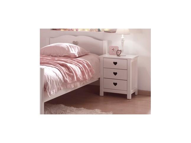 Chevet chambre fillette EMILIE 3 tiroirs - SONUIT