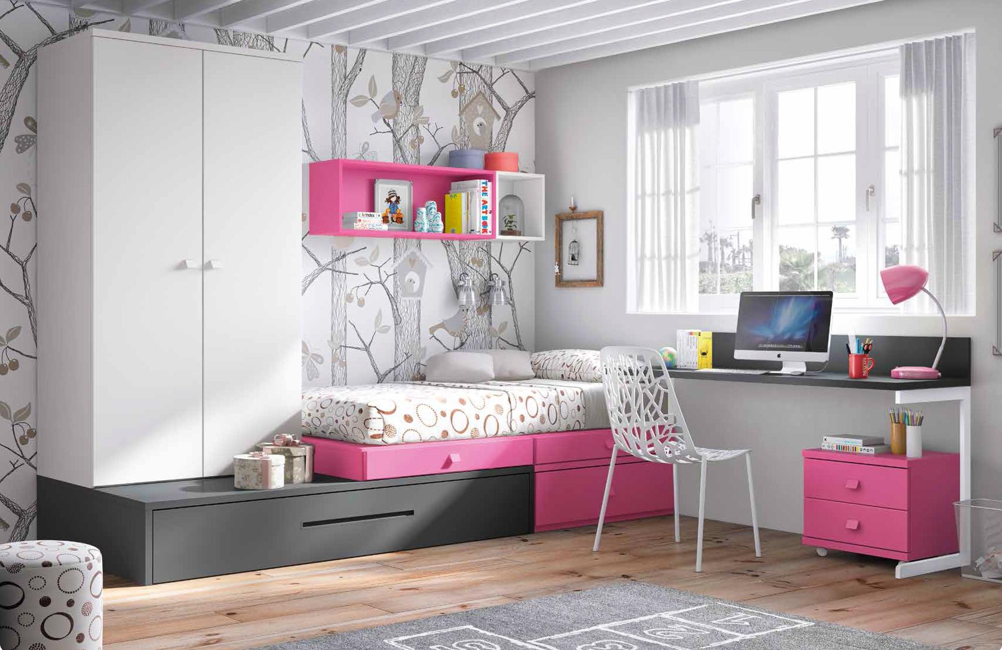 chambre enfant complete personnaliser girly glicerio so nuit. Black Bedroom Furniture Sets. Home Design Ideas