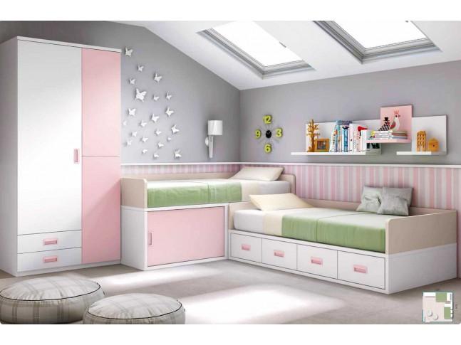 Chambre fillette PERSONNALISABLE F060 - GLICERIO