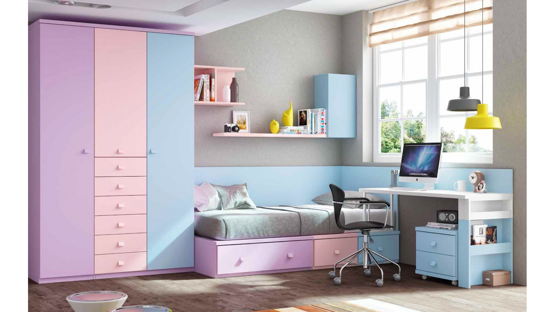 Chambre de fille ado PERSONNALISABLE F150 - GLICERIO