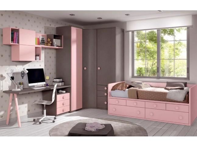 Chambre fillette PERSONNALISABLE F159 - GLICERIO
