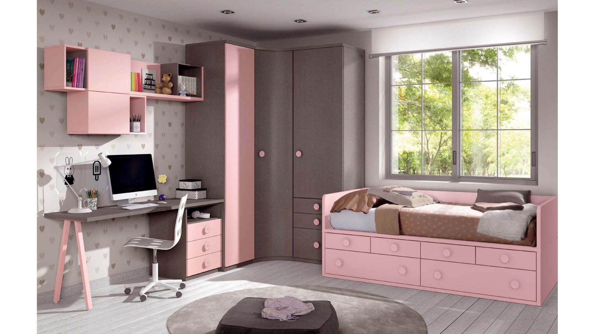 Chambre fillette PERSONNALISABLE F031 - GLICERIO