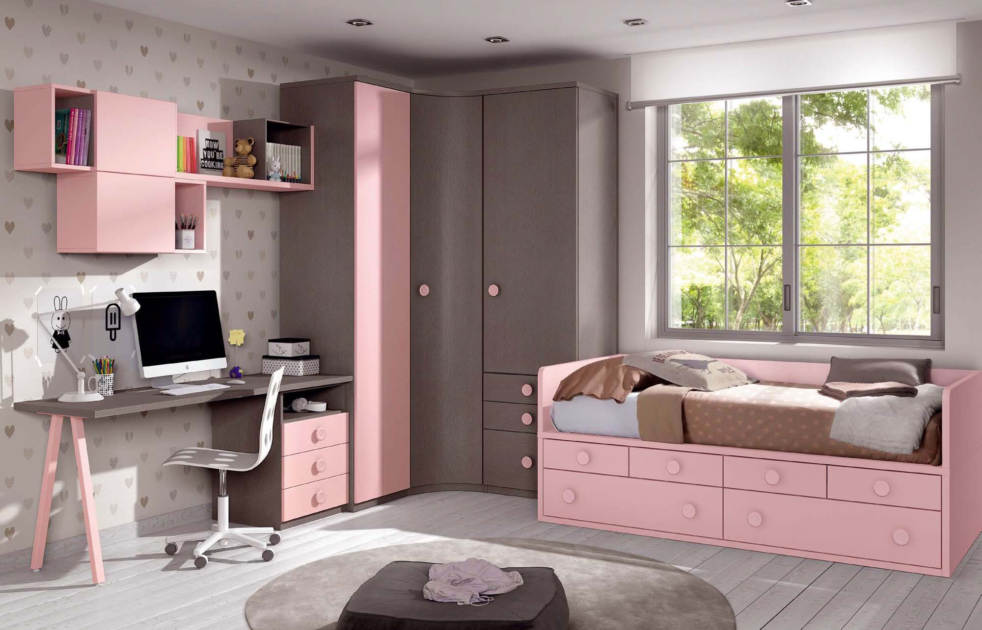Chambre fillette colorée à personnaliser - GLICERIO - SO NUIT
