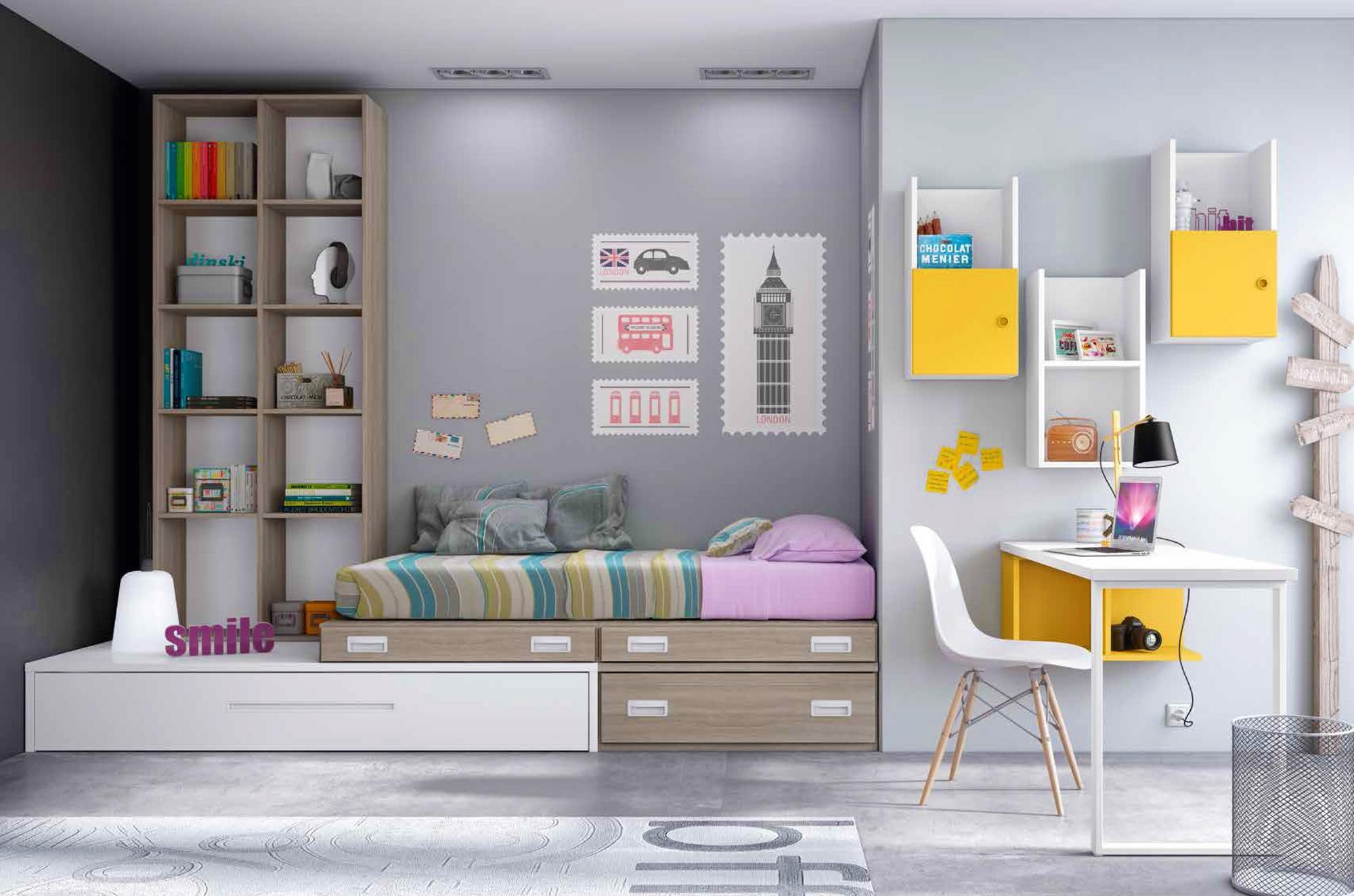 Chambre enfant complete PERSONNALISABLE F250 - GLICERIO