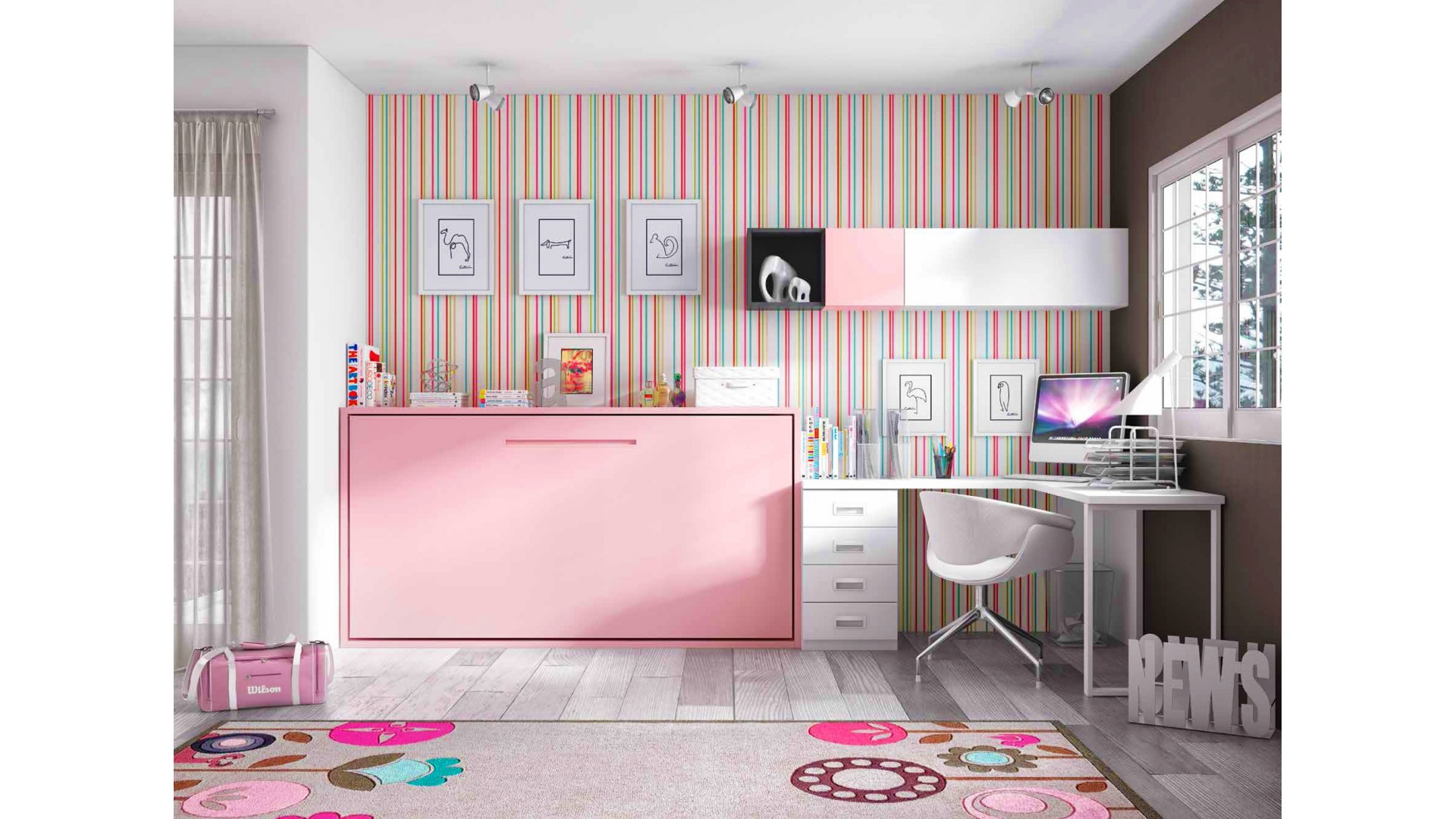 bureau escamotable mural bureau mural enfant with bureau. Black Bedroom Furniture Sets. Home Design Ideas