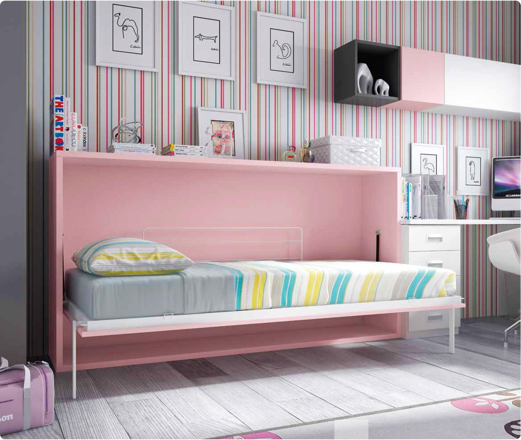 Chambre Avec Lit Escamotable Horizontal Enfant Glicerio