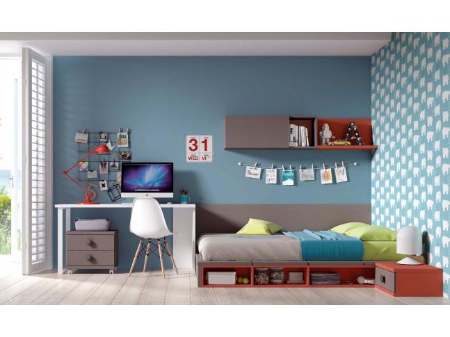 """Chambre avec lit futon tatami """"couchage 140 x 190"""" PERSONNALISABLE F463 - GLICERIO"""