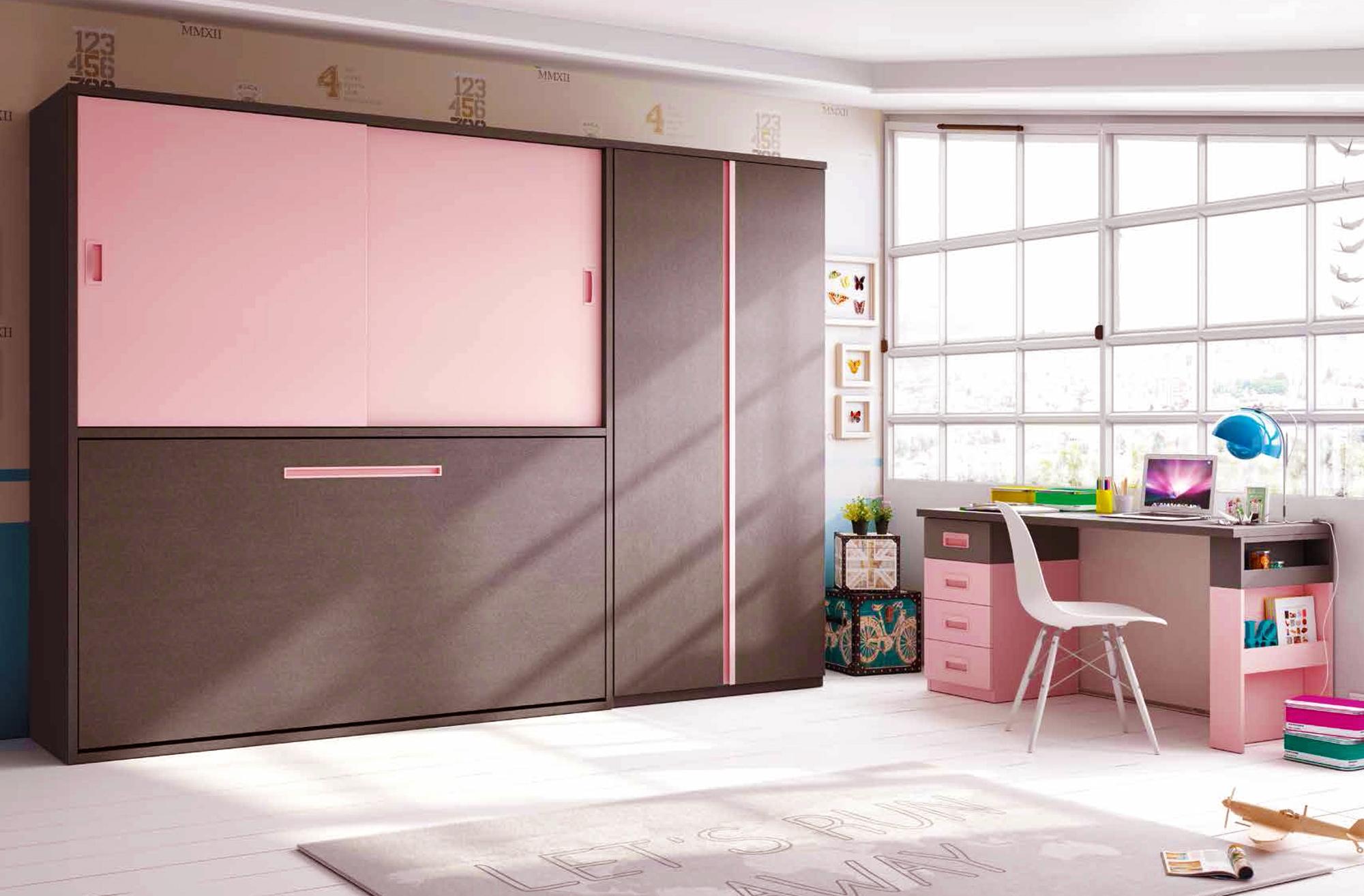 Chambre avec lit escamotable horizontal enfant glicerio so nuit - Installation lit escamotable ...
