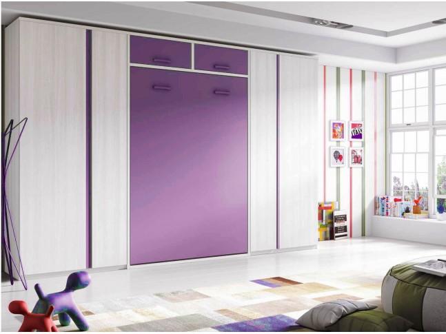 Chambre enfant avec lit armoire escamotable PERSONNALISABLE F364 - GLICERIO