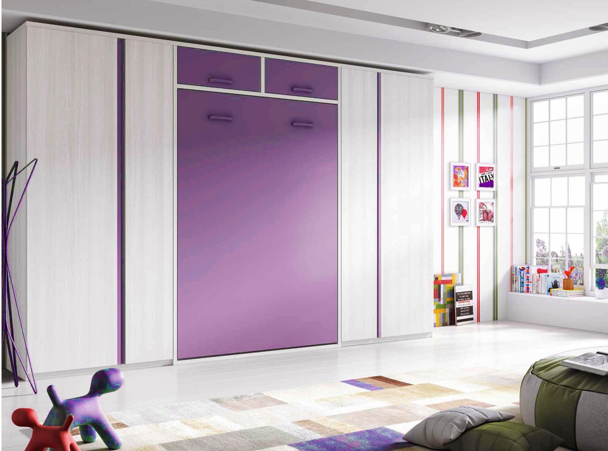 Lit armoire escamotable vertical avec rangements GLICERIO SO NUIT