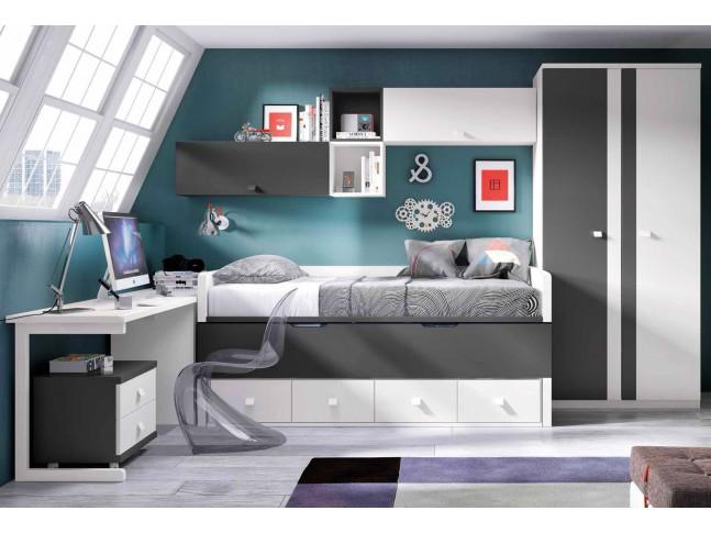 chambre ado garcon avec lit gigogne f glicerio with accessoire chambre ado. Black Bedroom Furniture Sets. Home Design Ideas
