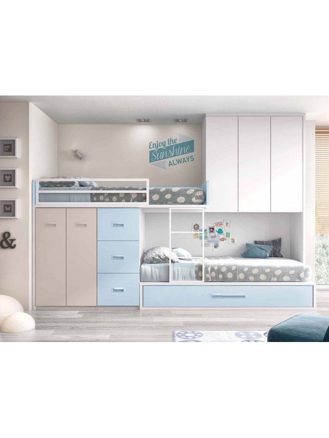 lit superpos avec rangement lit gigogne glicerio so. Black Bedroom Furniture Sets. Home Design Ideas