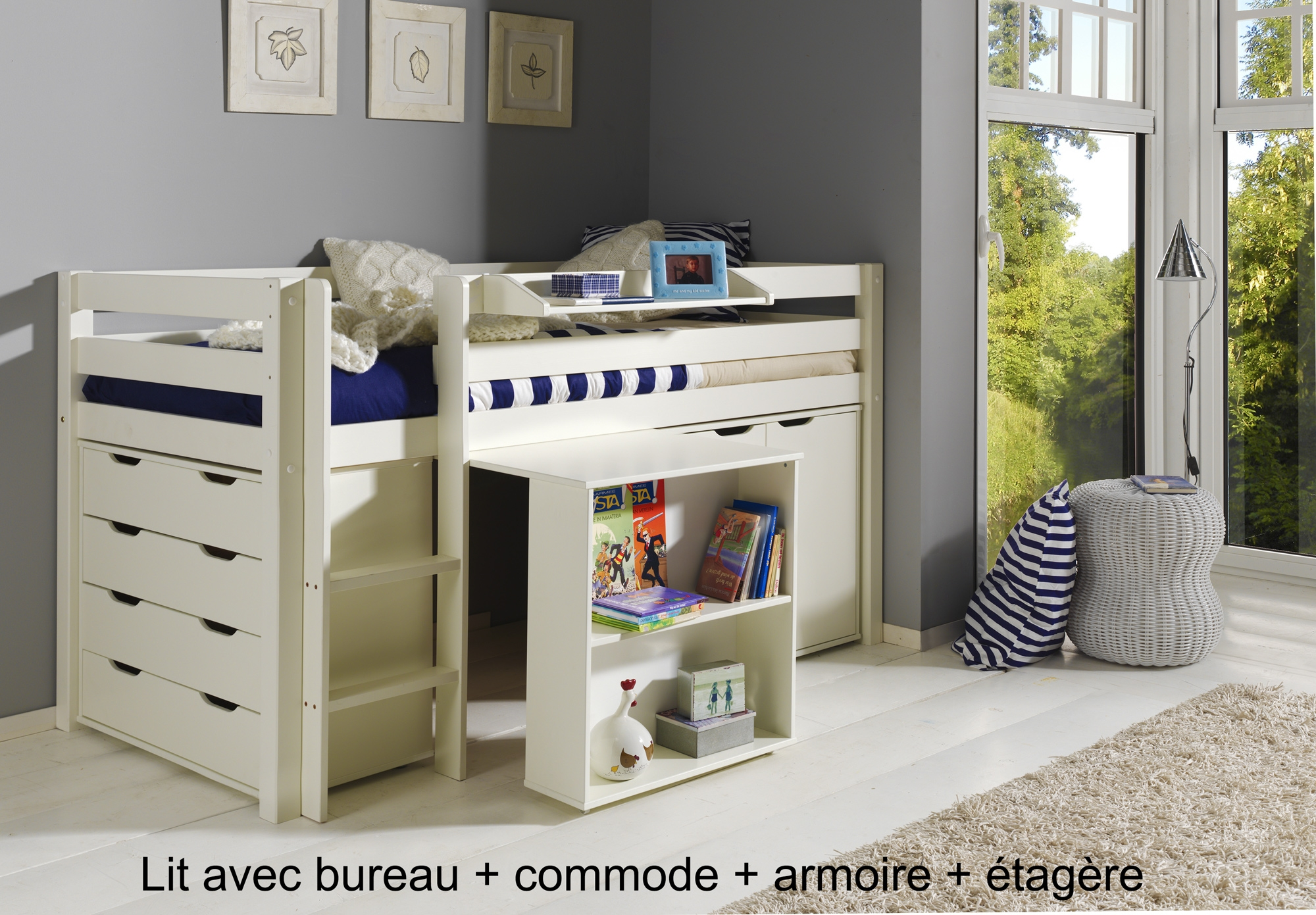 bureau lit lit bureau enfant un mini bureau et un mini lit armoire lit bureau 1 ensemble lit. Black Bedroom Furniture Sets. Home Design Ideas