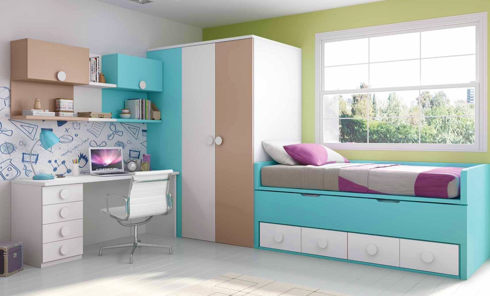 chambre mauve et bleu. Black Bedroom Furniture Sets. Home Design Ideas