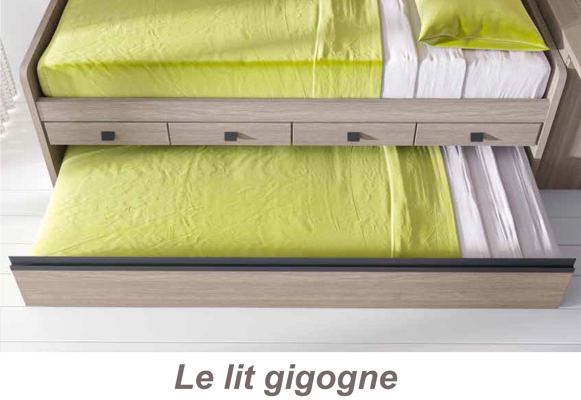 chambre ado fille avec lit gigogne fun color e glicerio so nuit. Black Bedroom Furniture Sets. Home Design Ideas