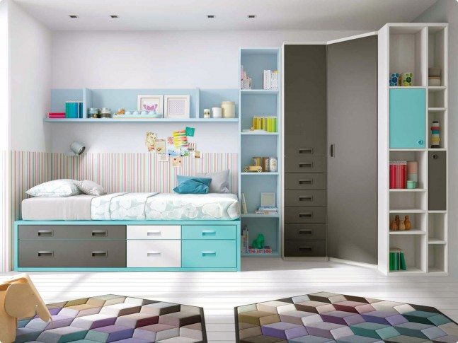 chambre ado compl te lit 1 personne design moretti compact so nuit. Black Bedroom Furniture Sets. Home Design Ideas
