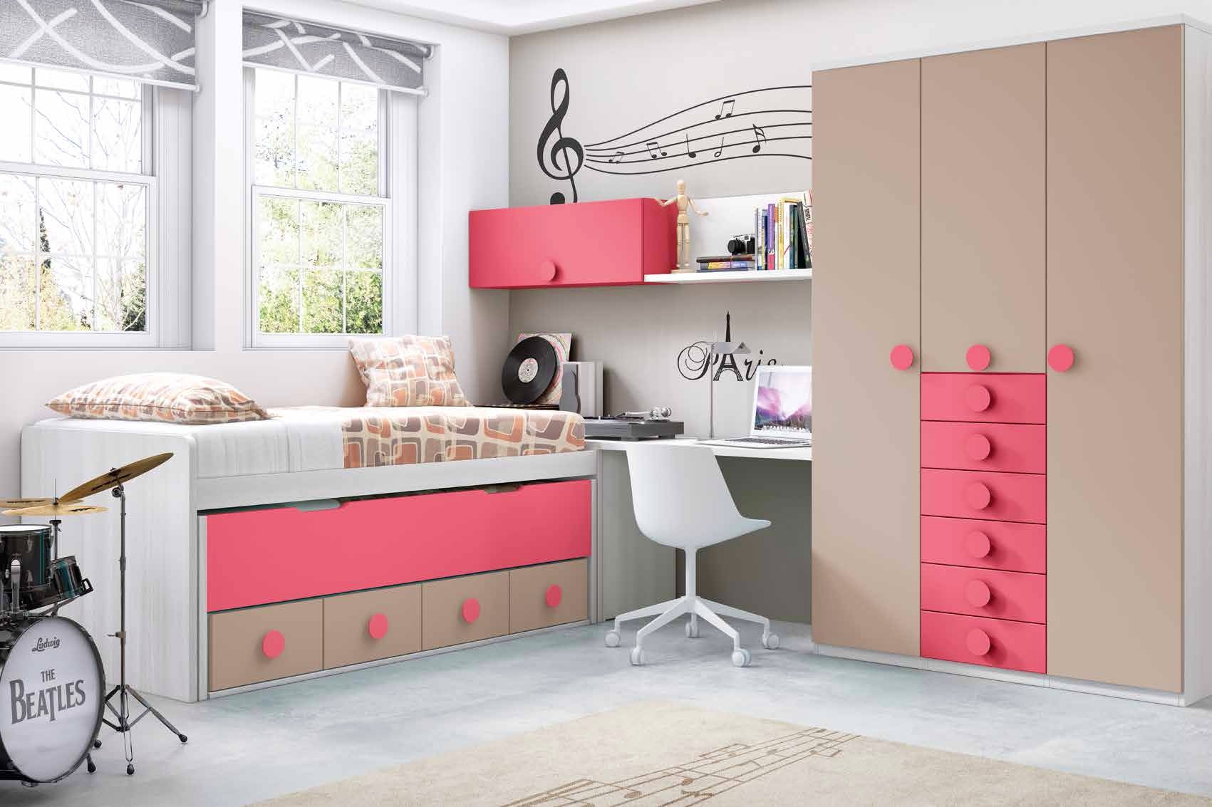 chambre moderne ado fille. Black Bedroom Furniture Sets. Home Design Ideas