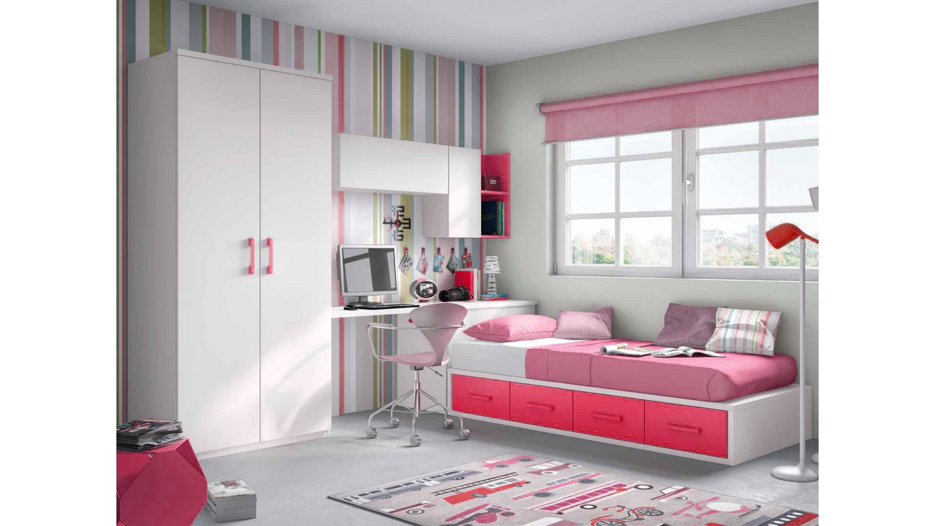 Awesome chambre double fille ado gallery for Chambre pour fille
