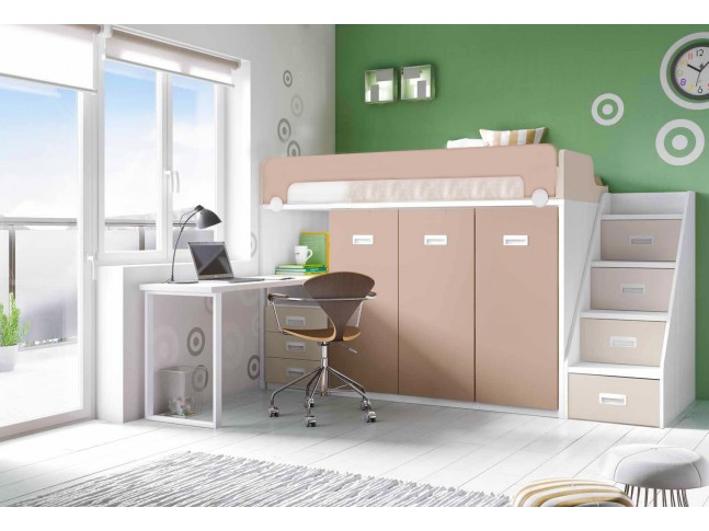 lit sur lev bahia block pour la chambre enfant asoral so nuit. Black Bedroom Furniture Sets. Home Design Ideas