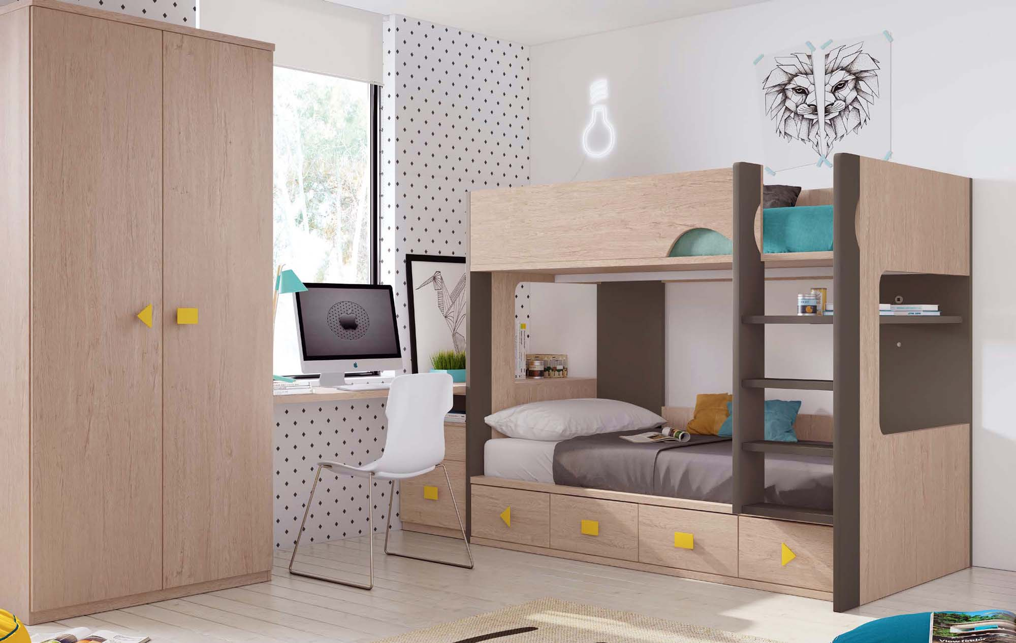 lit superpos fille coulissant et pratique glicerio so nuit. Black Bedroom Furniture Sets. Home Design Ideas