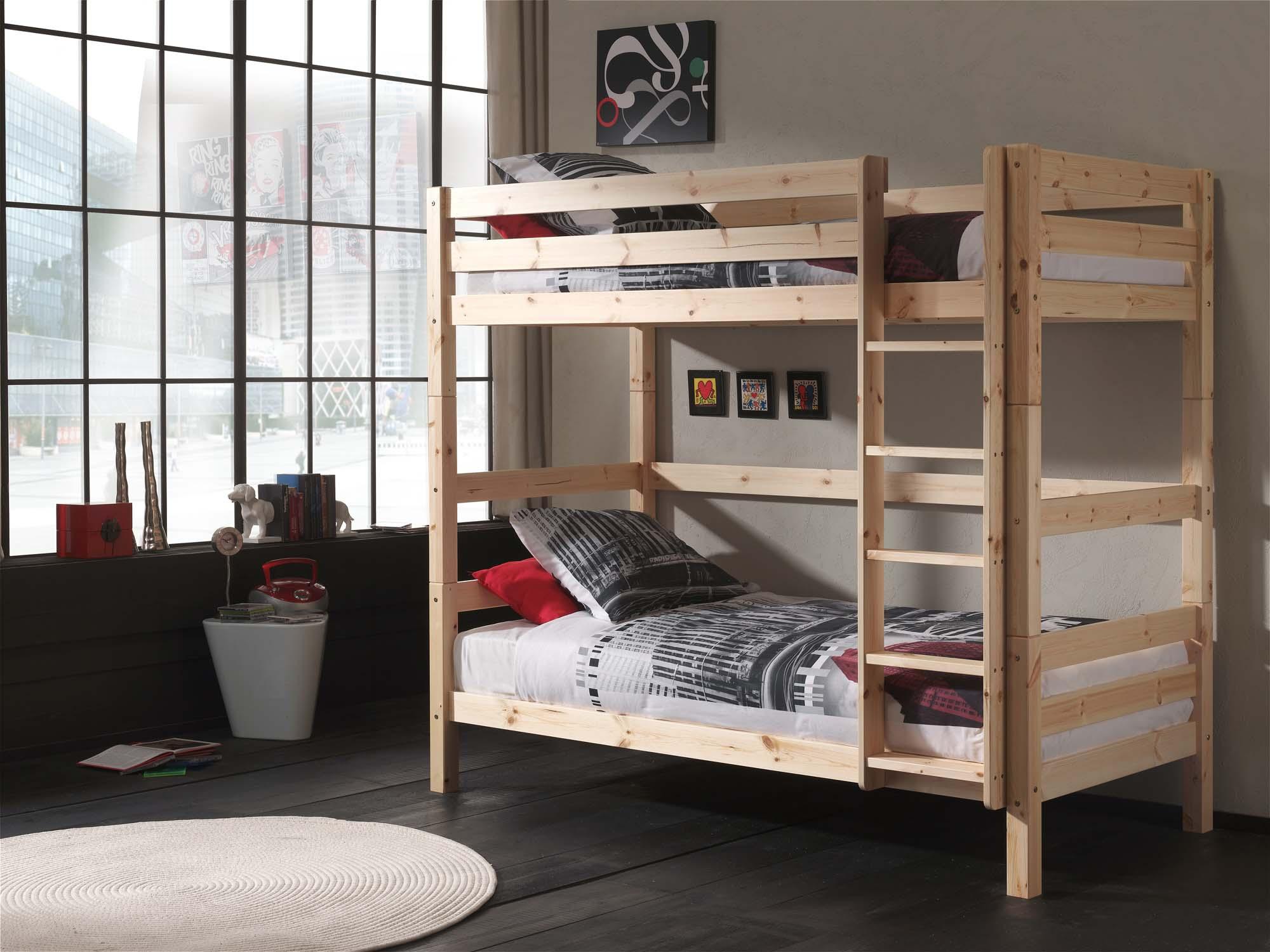 lits superpos s s parables tic tac couchage 90x200 cm sonuit. Black Bedroom Furniture Sets. Home Design Ideas