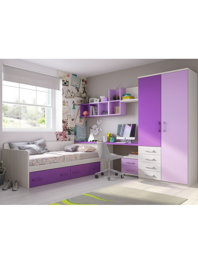 chambre enfant lits superpos s en mezzanine moretti compact so nuit. Black Bedroom Furniture Sets. Home Design Ideas