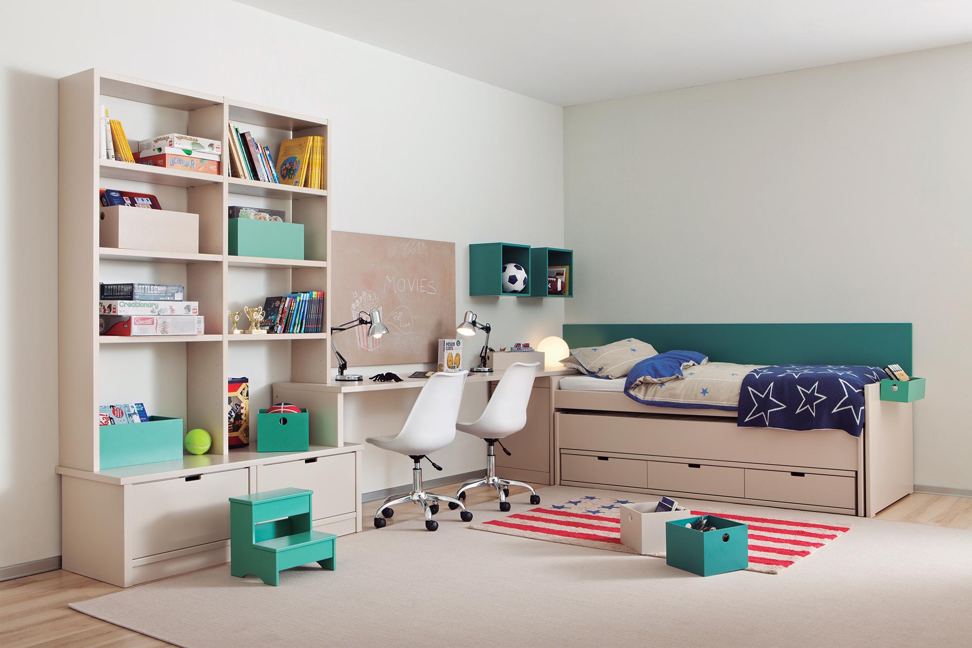 ment intégrer un bureau double dans la chambre enfant