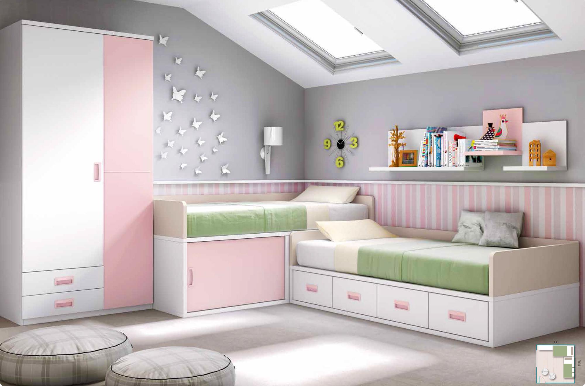 Guide pratique pour am nager sa chambre pour 2 enfants - Exemple chambre ado fille ...