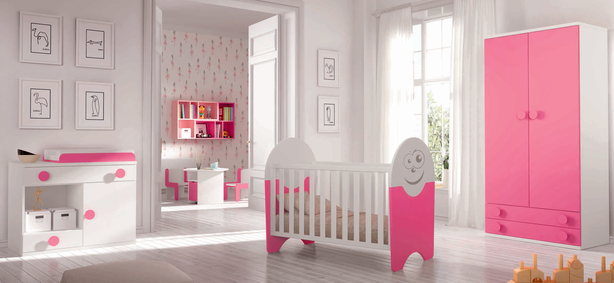 comment pr parer votre enfant partager sa chambre de fille. Black Bedroom Furniture Sets. Home Design Ideas