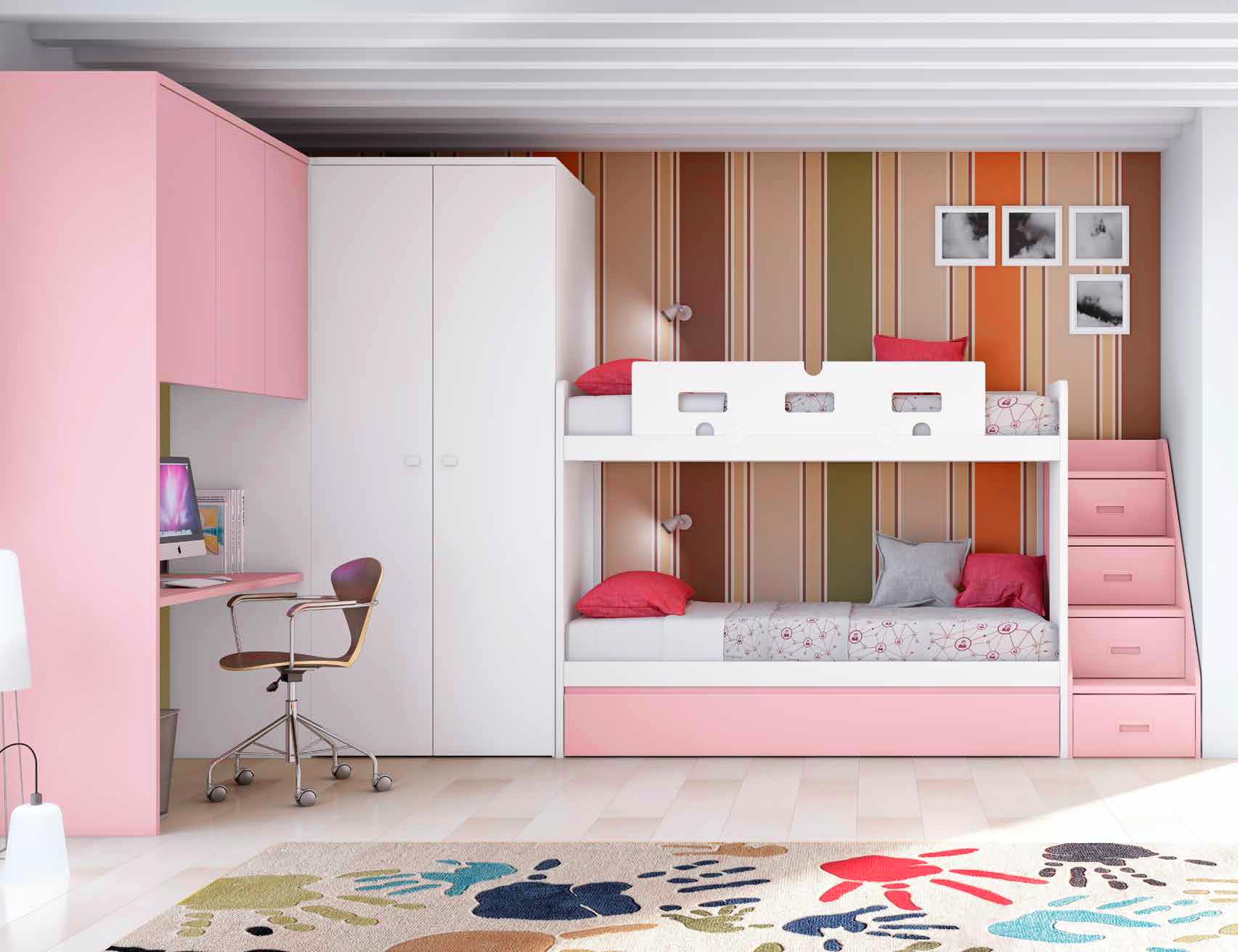 Les avantages du lit superpos enfant et ses d clinaisons - Dormitorios infantiles para dos ...
