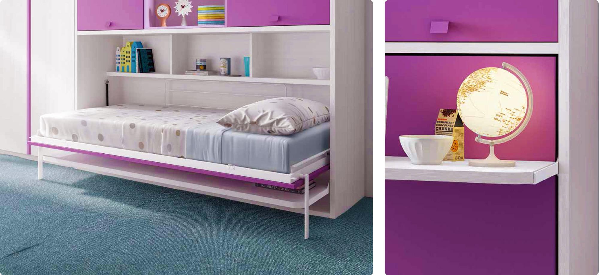 Le guide d 39 achat du lit escamotable mural ou lit rabattable for Lit armoire escamotable rabattable