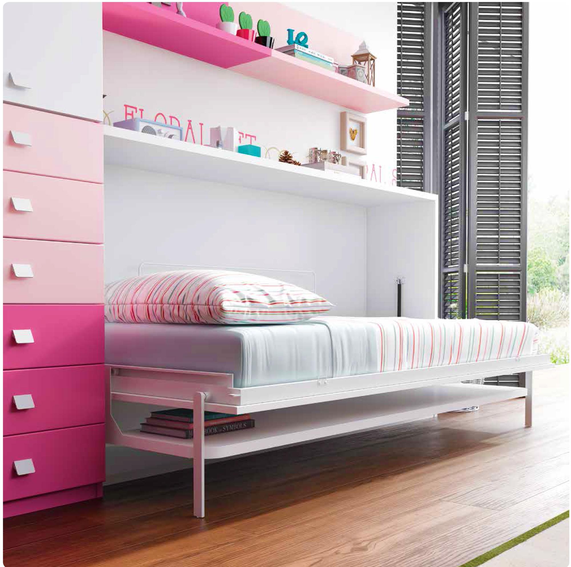 le guide d 39 achat du lit escamotable mural ou lit rabattable. Black Bedroom Furniture Sets. Home Design Ideas