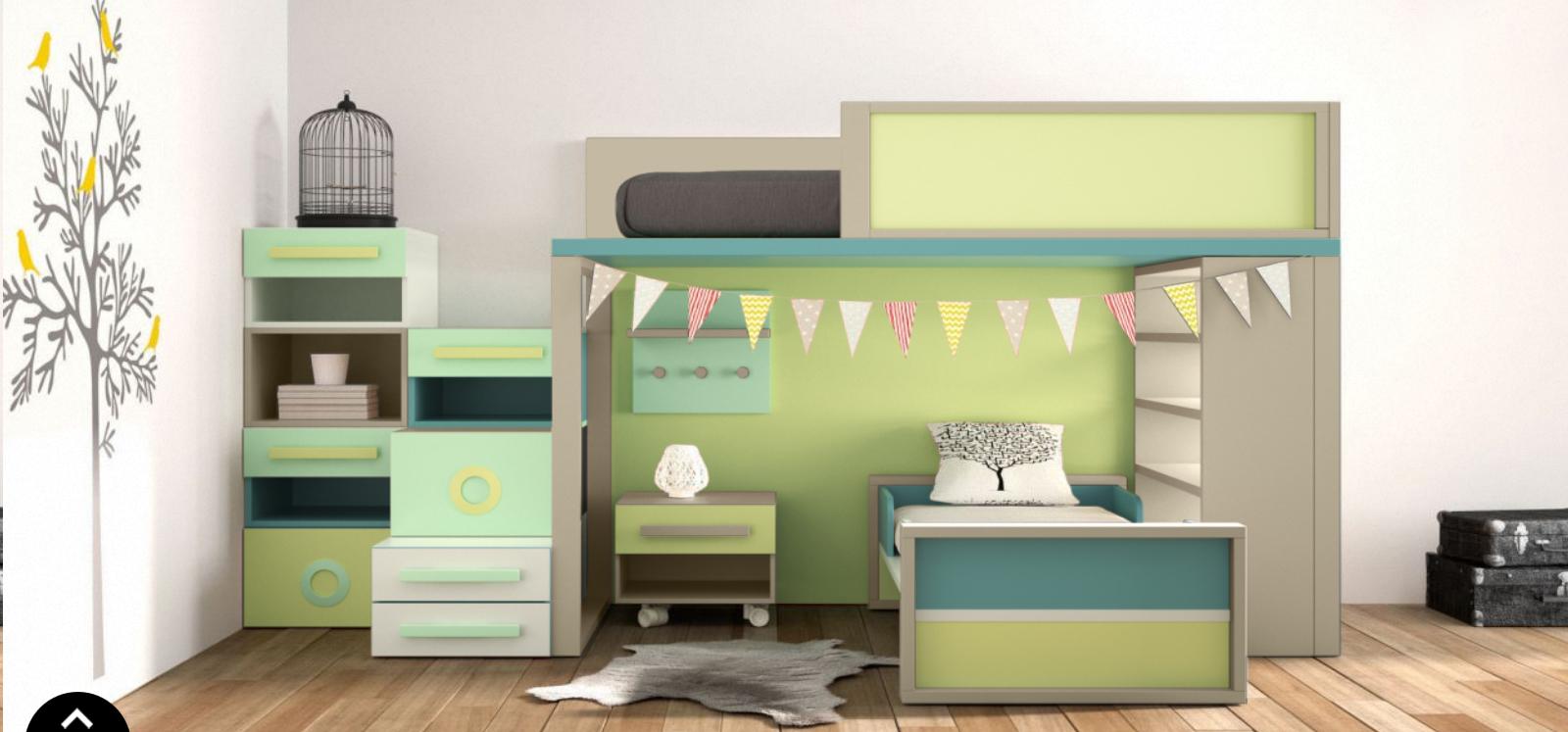 lit sur lev enfant exploiter la hauteur pour gagner de. Black Bedroom Furniture Sets. Home Design Ideas