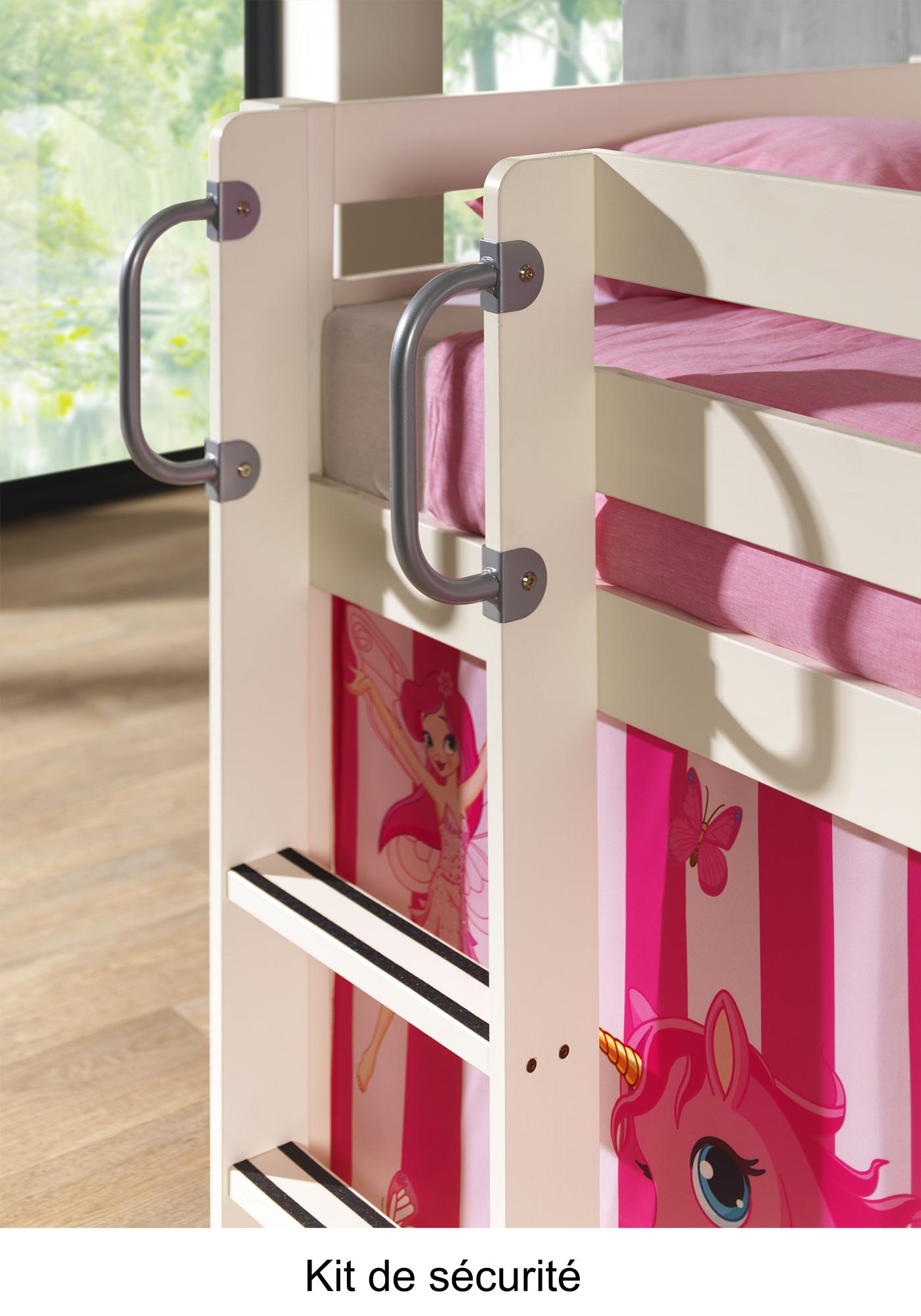 Lit mezzanine avec escalier de rangement chambre enfant - Escalier gain de place pas cher ...